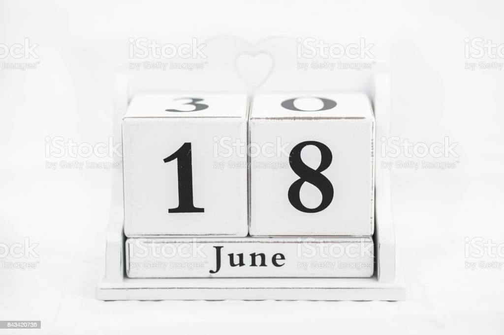 calendar june number stock photo