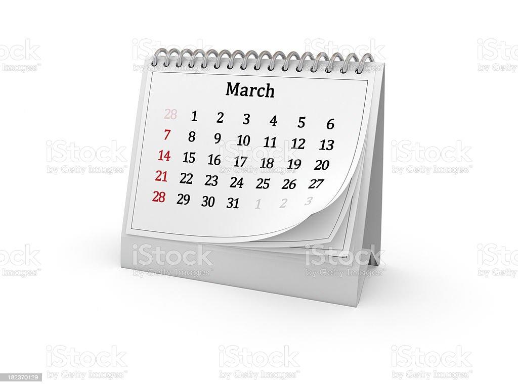 Calendar. March 2010. royalty-free stock photo