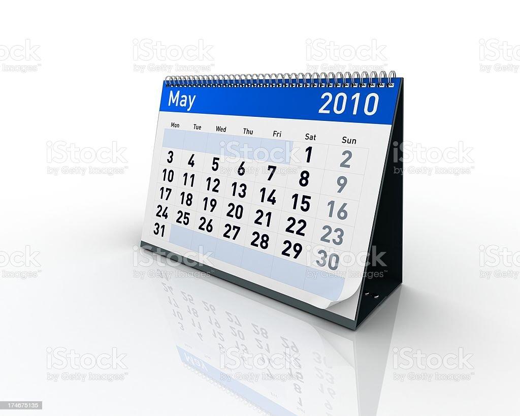 Calendar - May 2010 royalty-free stock photo