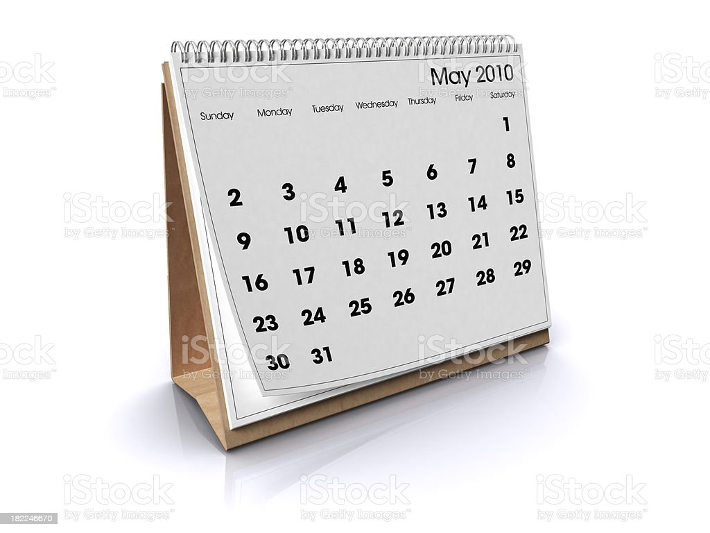Calendar May 2010 royalty-free stock photo