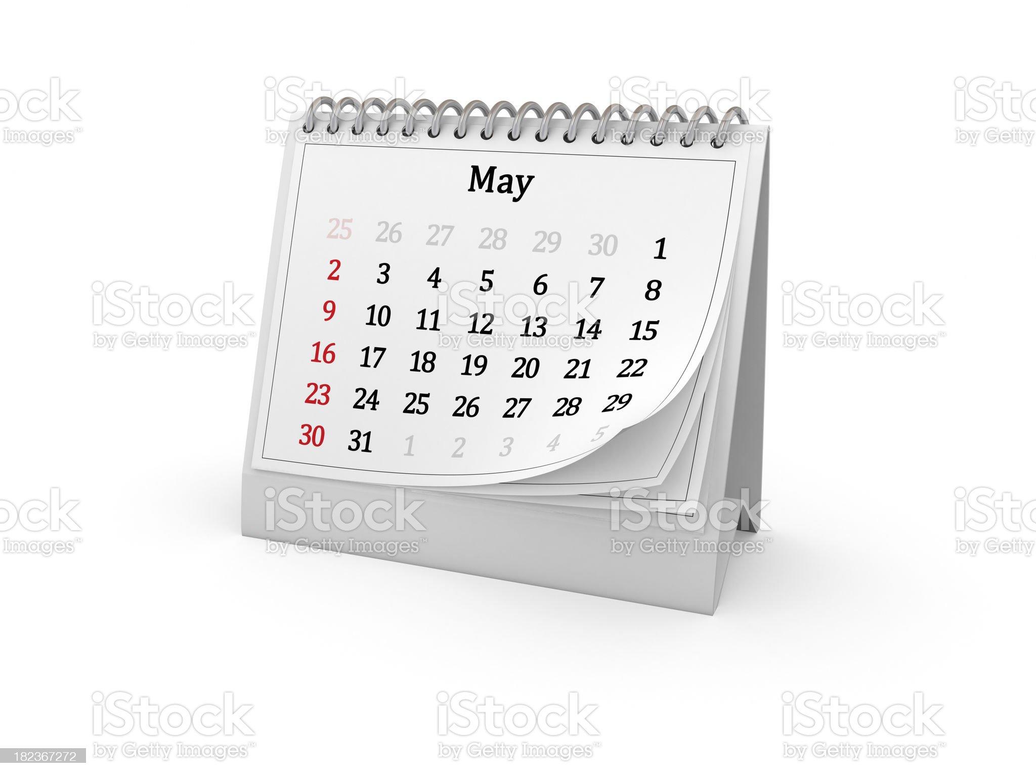 Calendar. May 2010. royalty-free stock photo