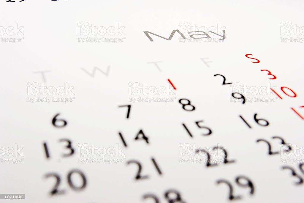 Calendar: May royalty-free stock photo