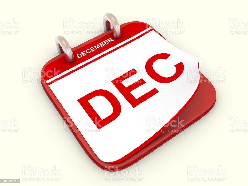 Calendar month December royalty-free stock photo