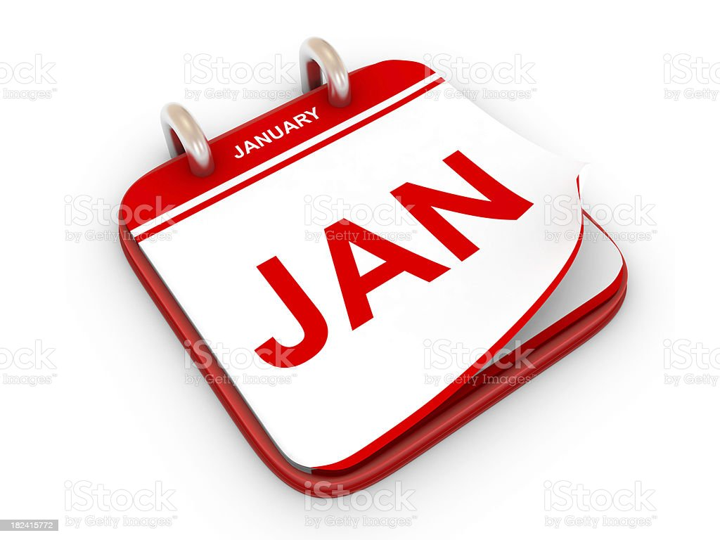 Calendar month January royalty-free stock photo