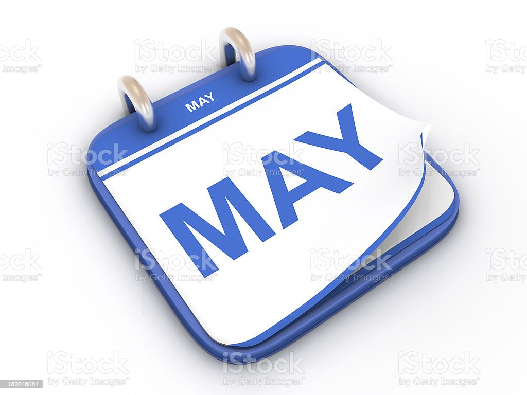 Calendar month May royalty-free stock photo