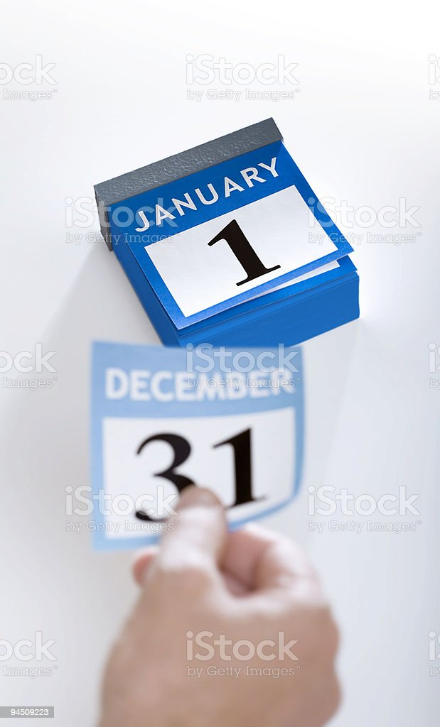 Calendar new year 2016 January 1st stock photo