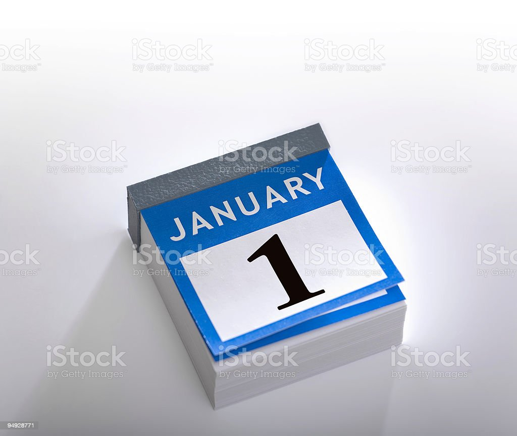 Calendar new year 2016 January 1st royalty-free stock photo