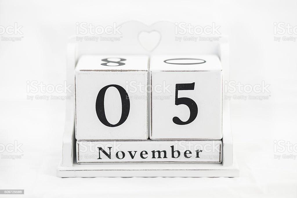 calendar november number stock photo