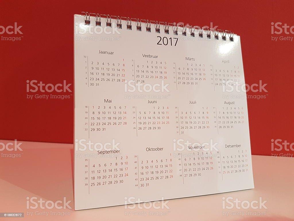 calendar of 2017 stock photo