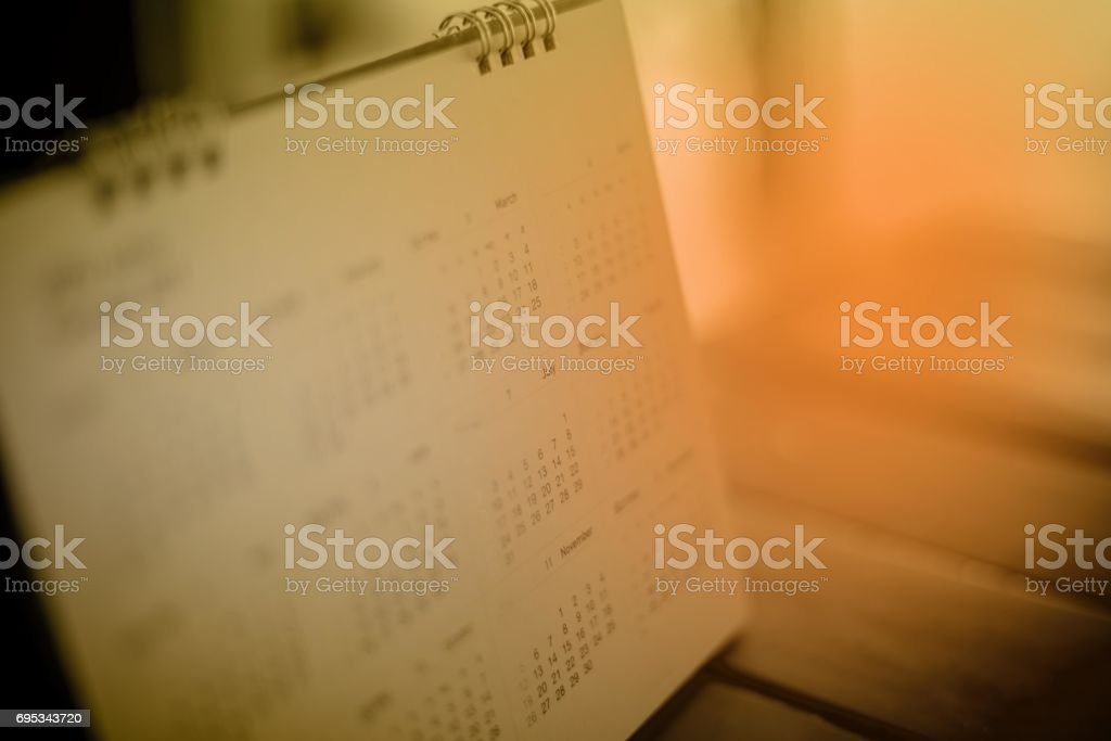 Calendar page stock photo