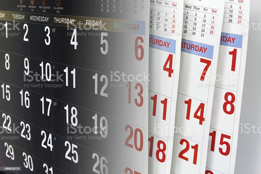 Calendar Pages royalty-free stock photo