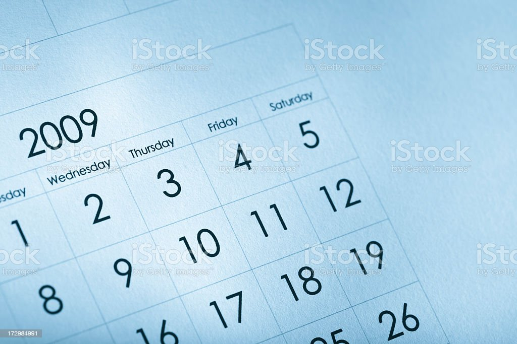 Calendar royalty-free stock photo