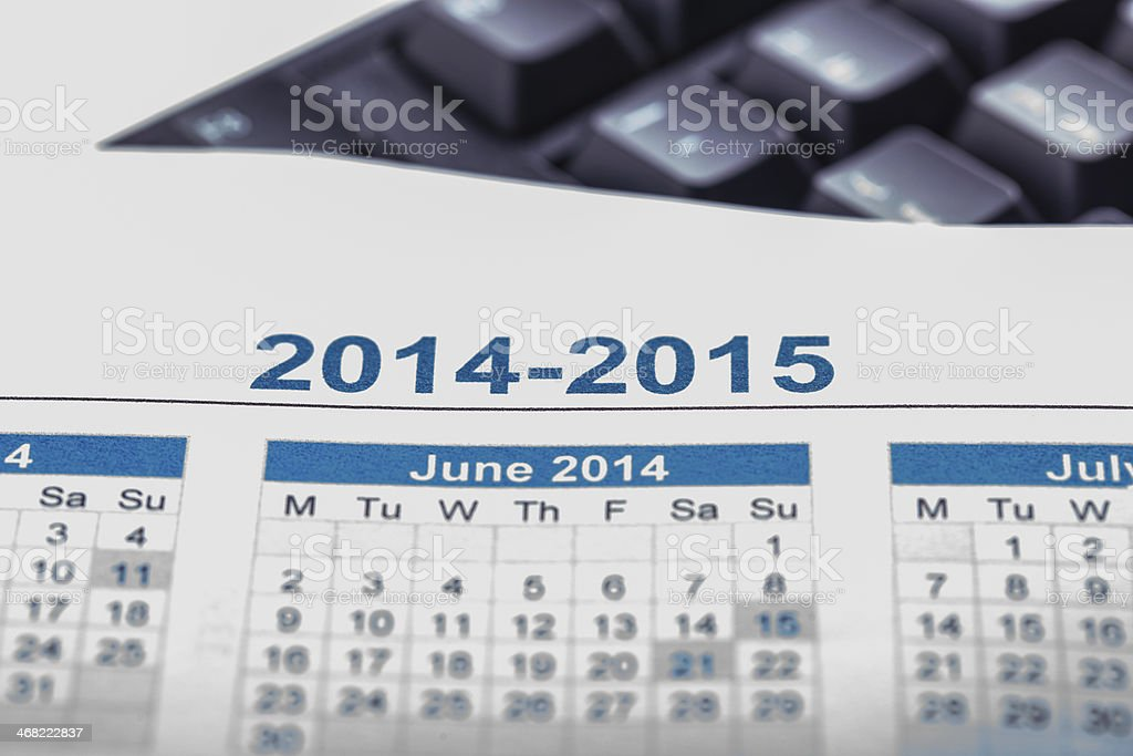 2014 calendar royalty-free stock photo