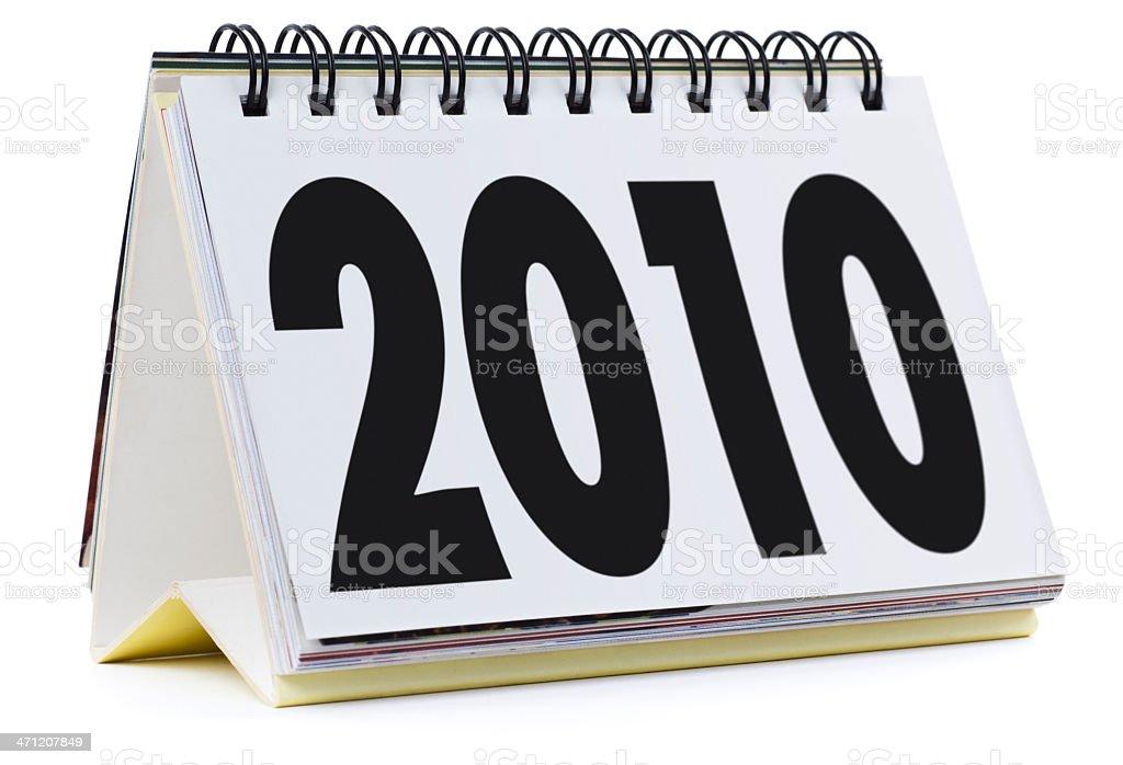 2010 calendar royalty-free stock photo