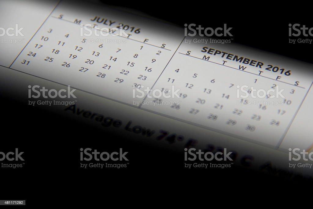 calendario stock photo