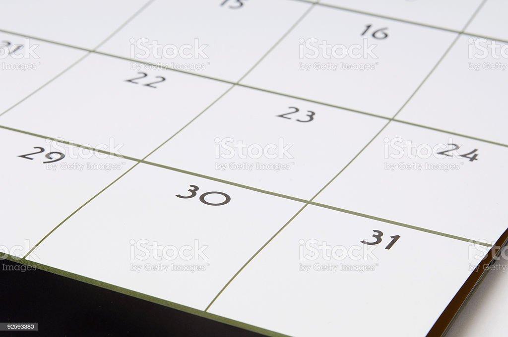 Calendar #1 royalty-free stock photo