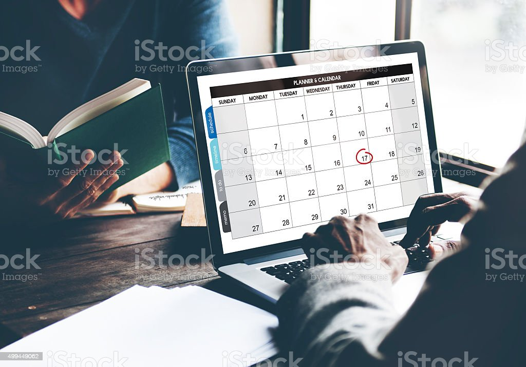 Calendar Planner Organization Management Remind Concept stock photo