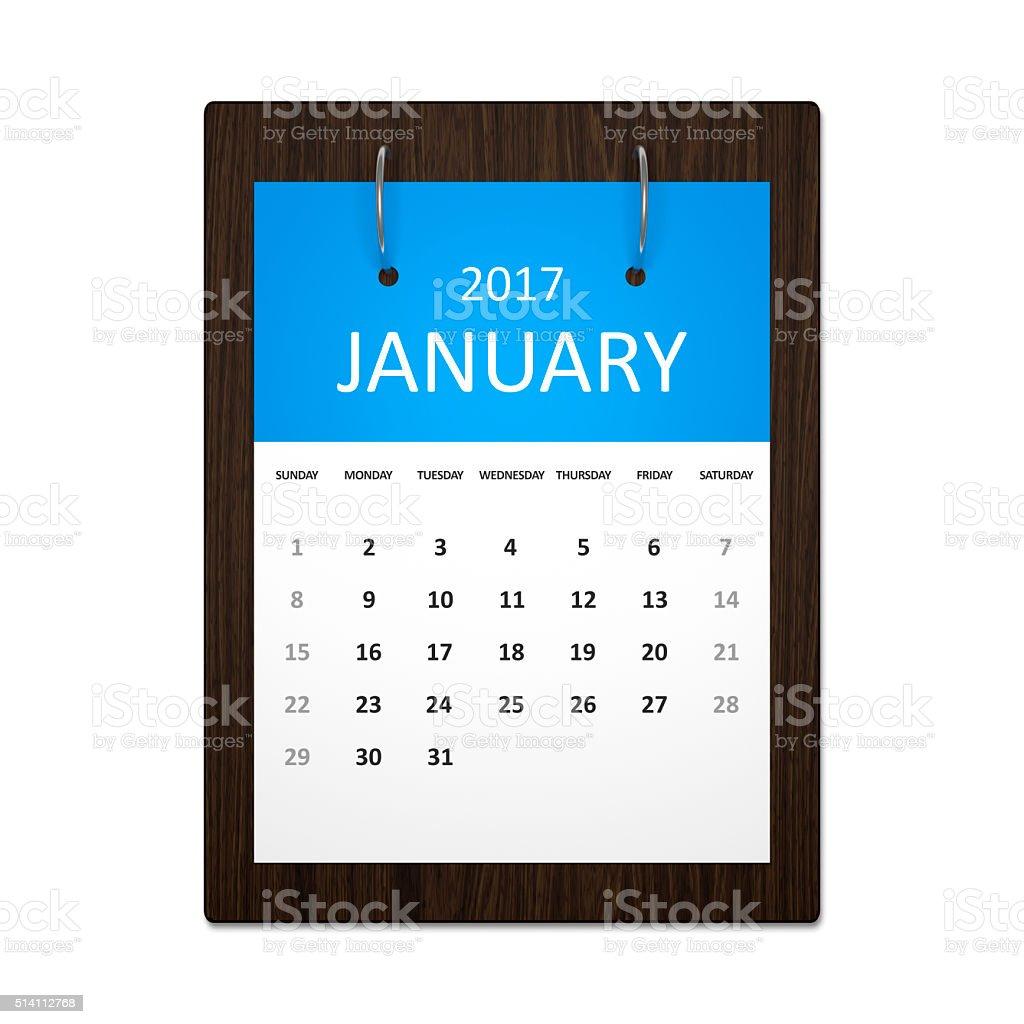 Calendar Planning 2017 stock photo