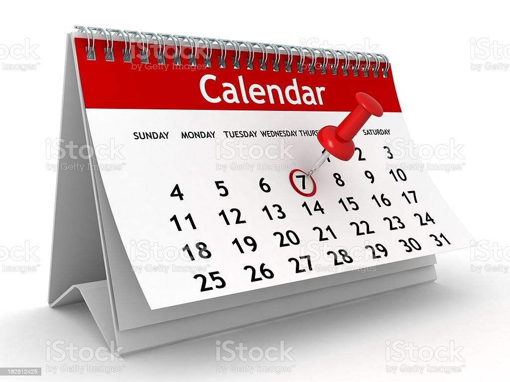 Calendar Planning stock photo