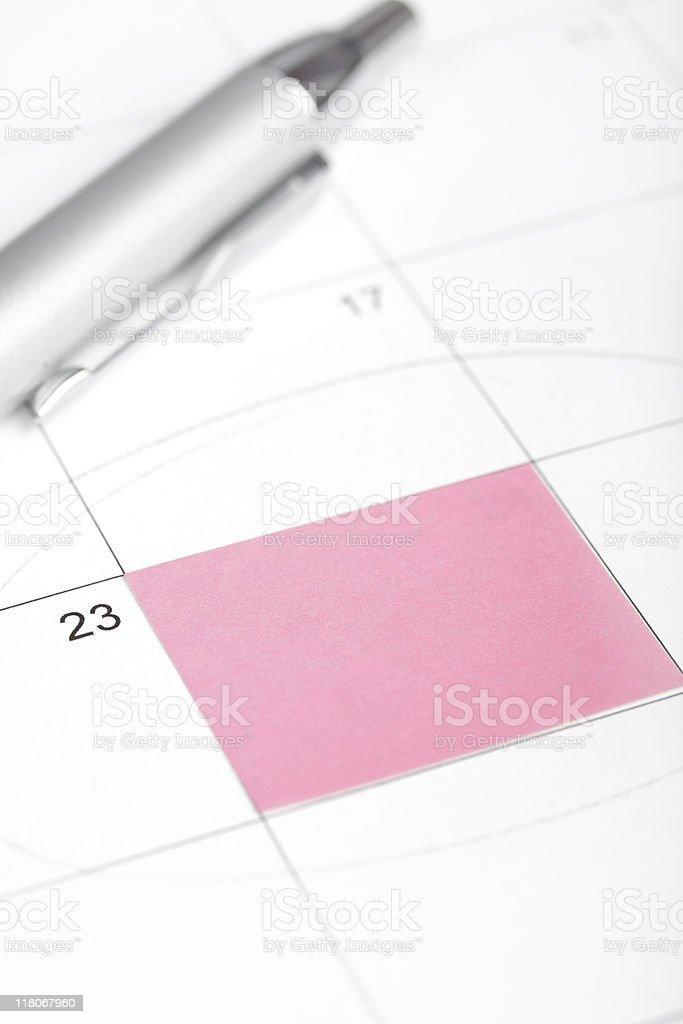 Calendar reminder. stock photo