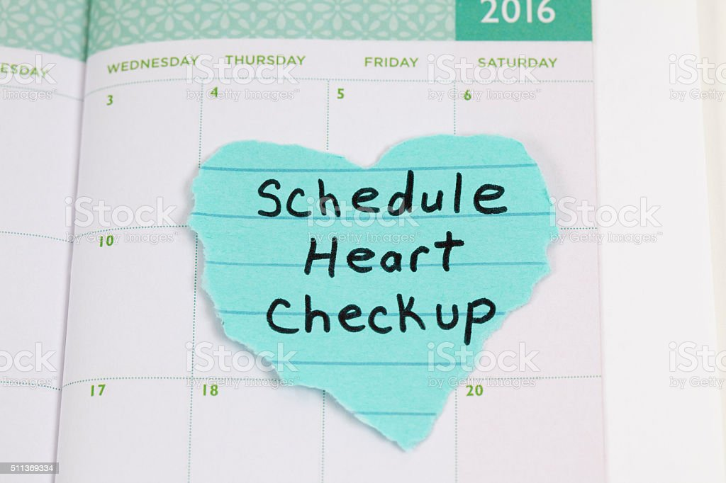 Calendar Reminder to Schedule Medical Exam stock photo