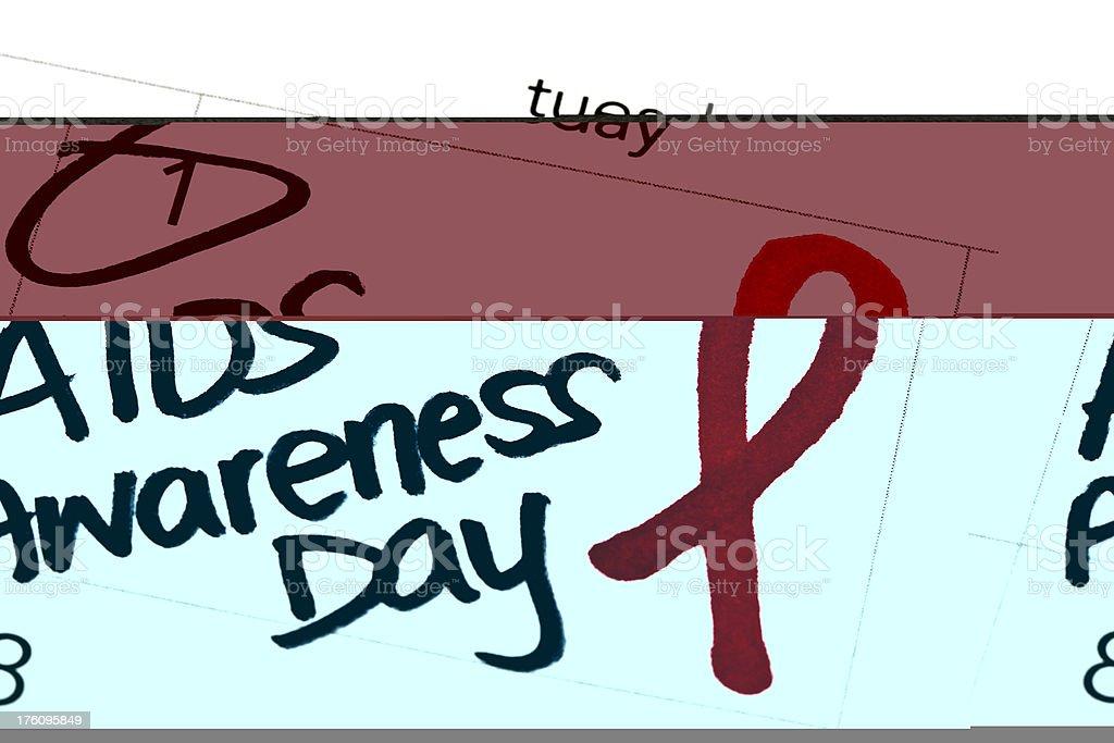 Calendar Series AIDS Awareness Day royalty-free stock photo