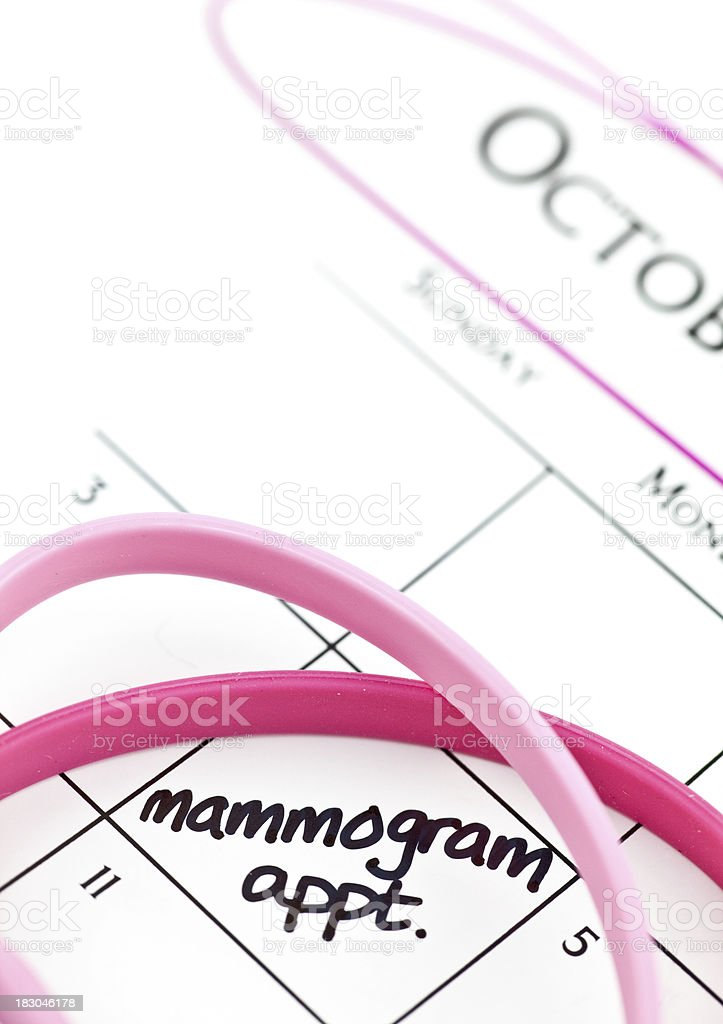 Calendar Series Mammogram Appointment stock photo