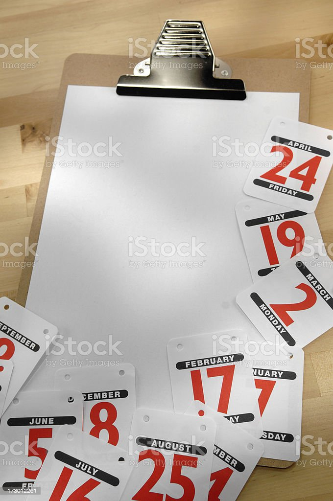 calendar series royalty-free stock photo