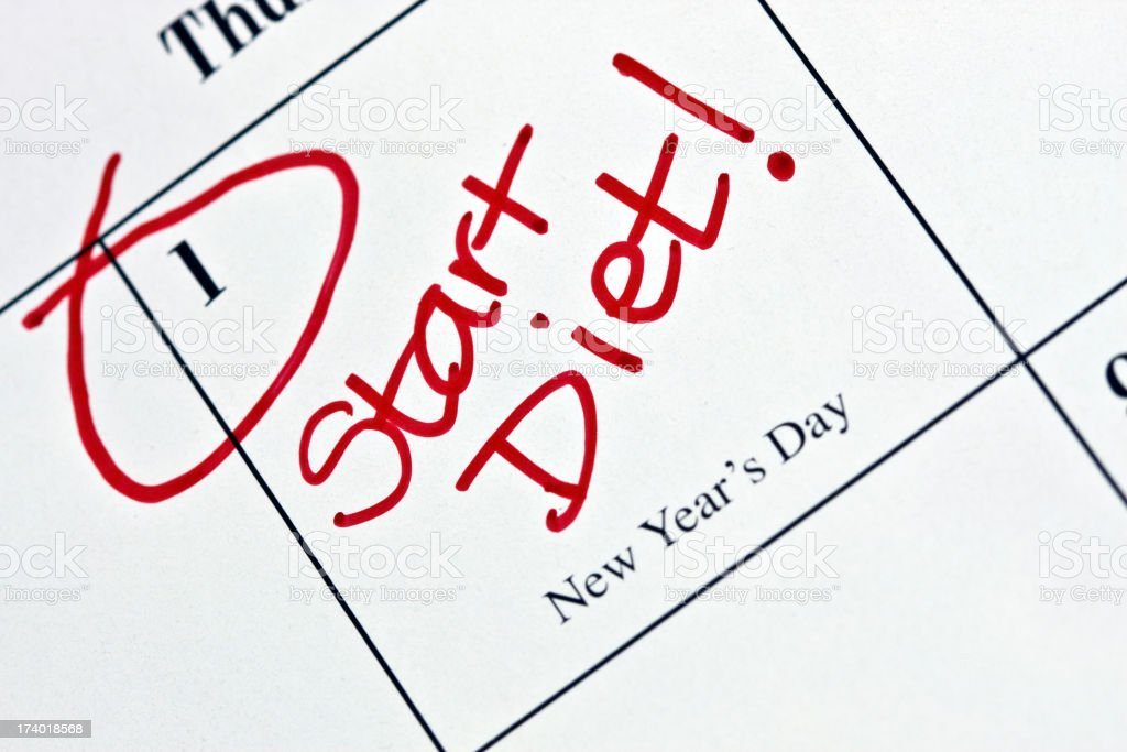 Calendar Series | Resolutions - Diet royalty-free stock photo