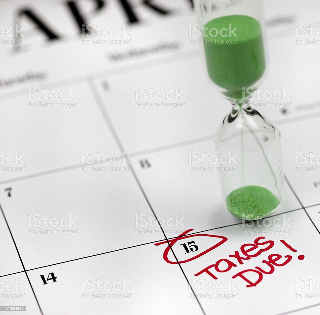 Calendar Series   Tax Deadline royalty-free stock photo