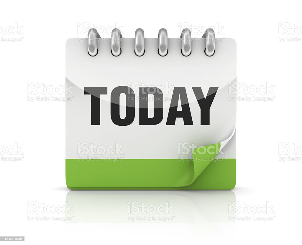 Calendar TODAY royalty-free stock photo