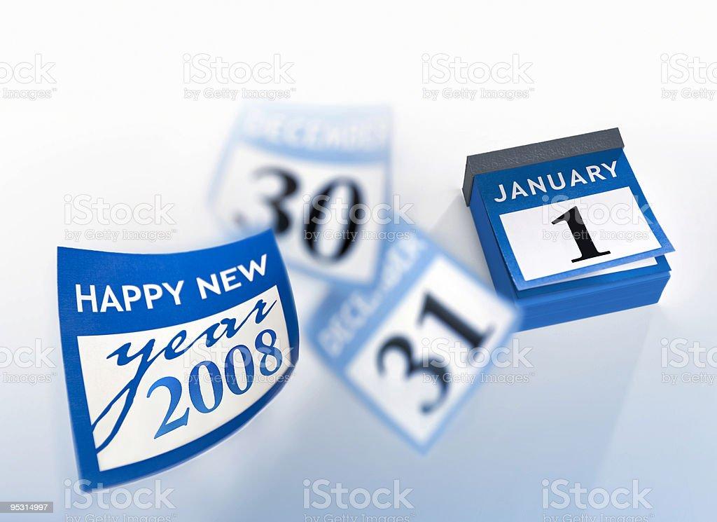 Calendar wishing happy new year 2008 royalty-free stock photo