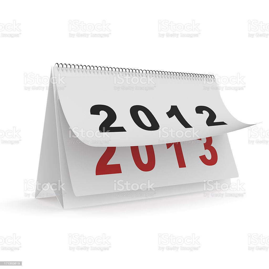 Calendar with new year 2013 wish royalty-free stock photo