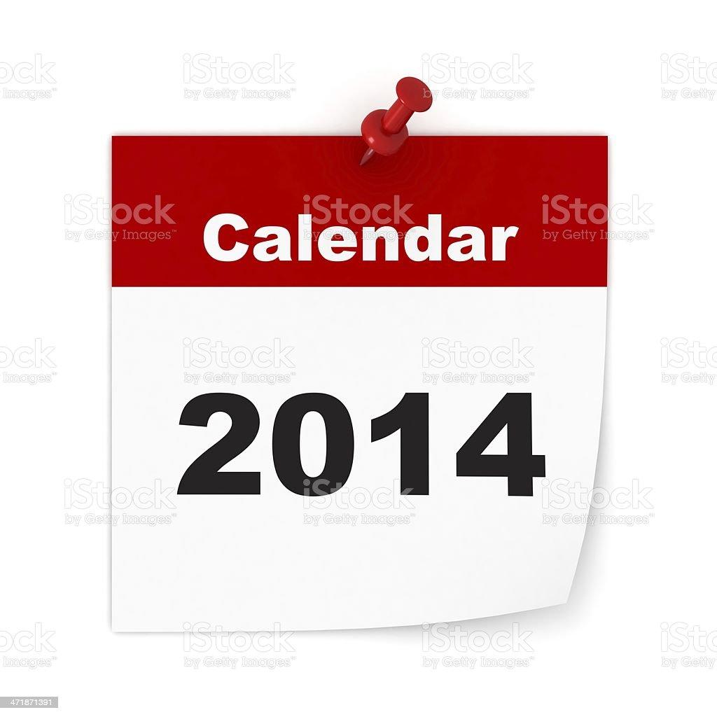 Calendar Year 2014 royalty-free stock photo