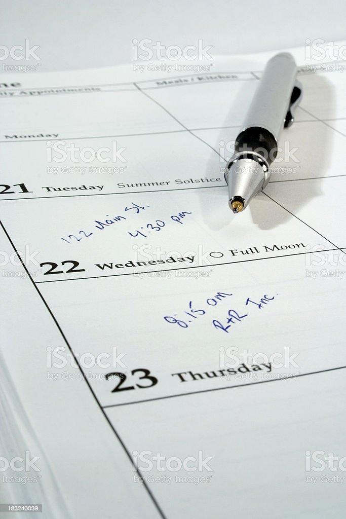 Calendar/Planner stock photo