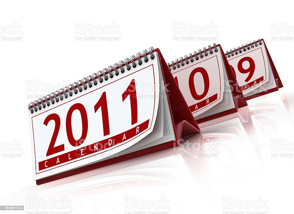 calendars 2011 royalty-free stock photo