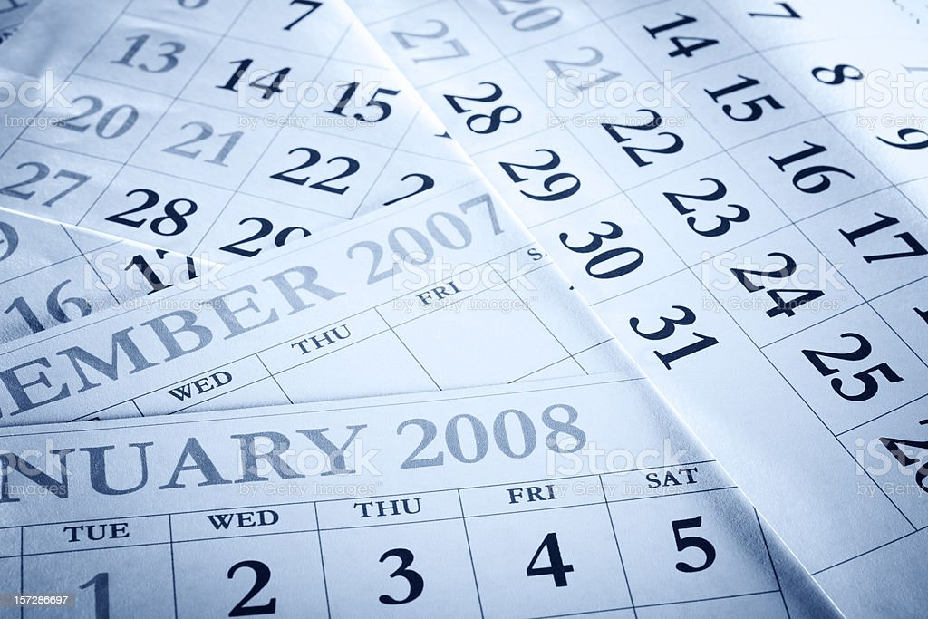 Calendars royalty-free stock photo