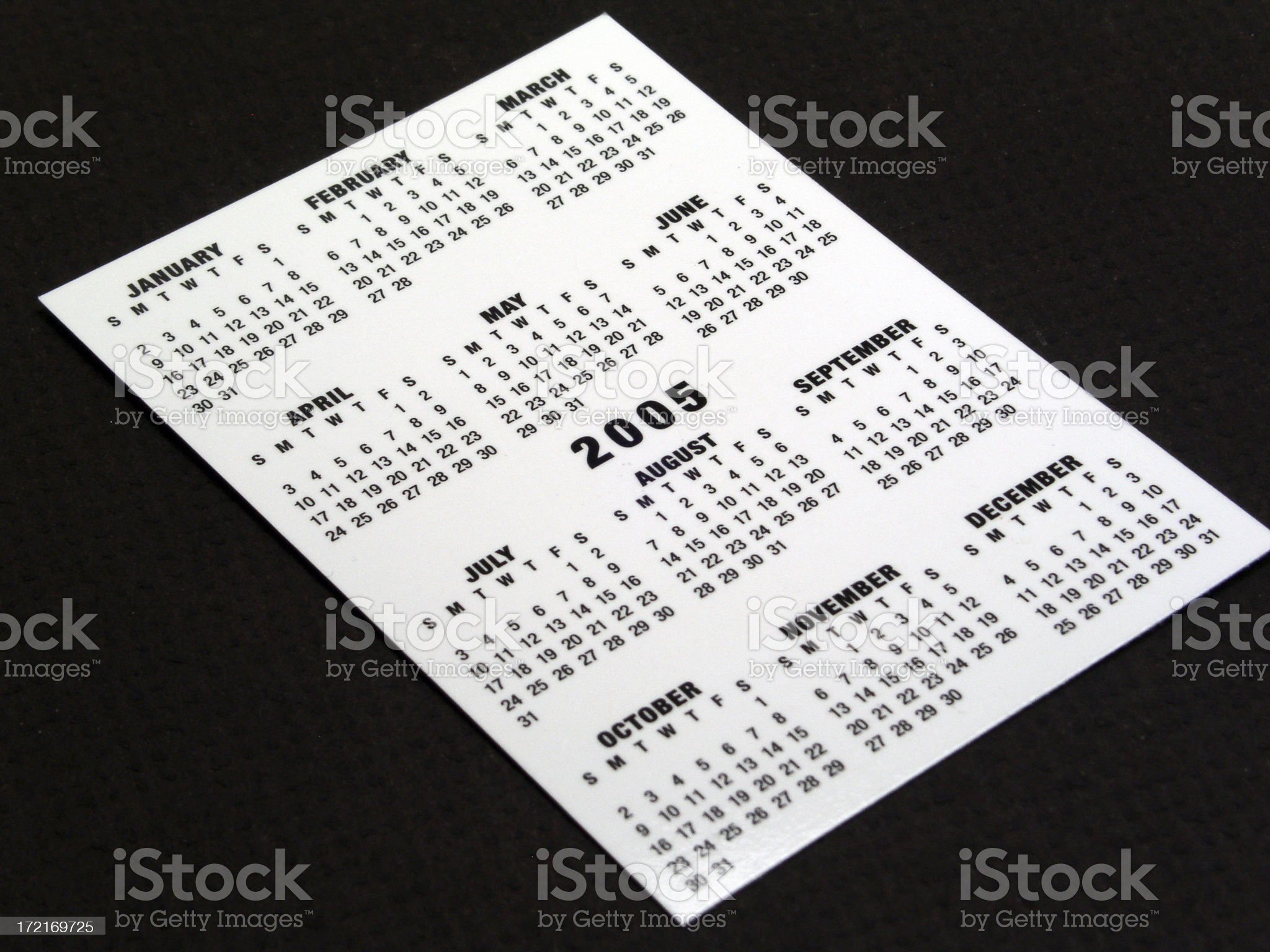 Calender For 2005 royalty-free stock photo