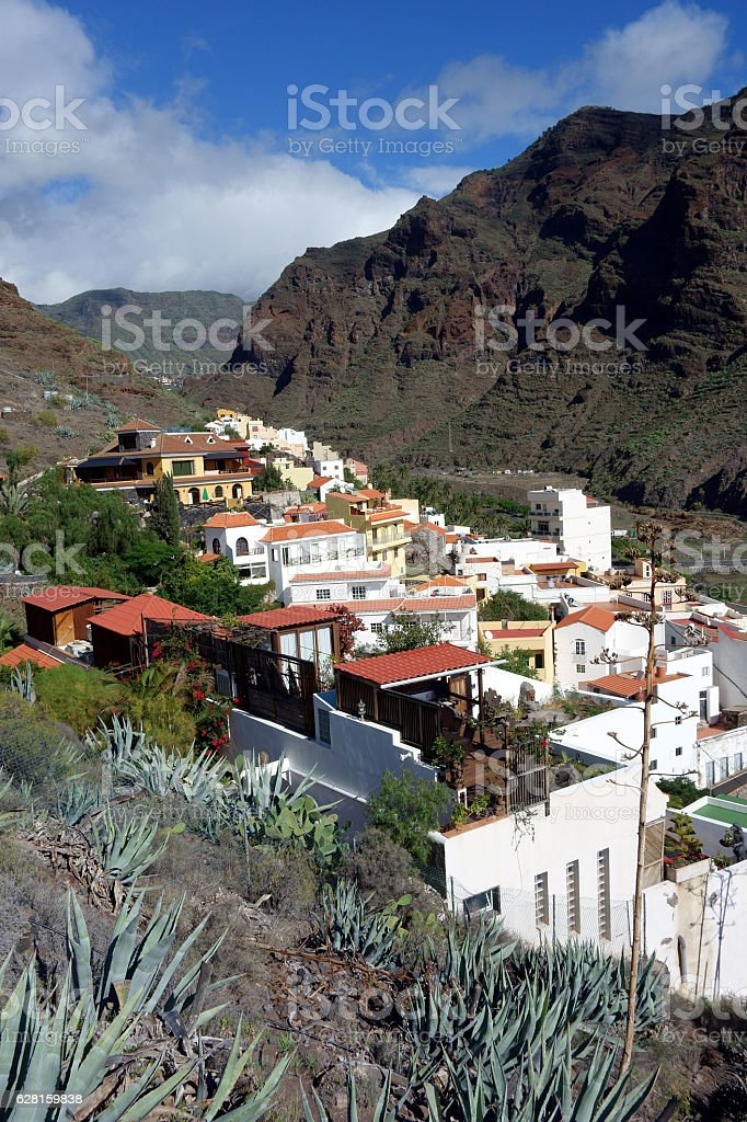 Calera, Valle Gran Rey, La Gomera, Canary Islands, Spain stock photo