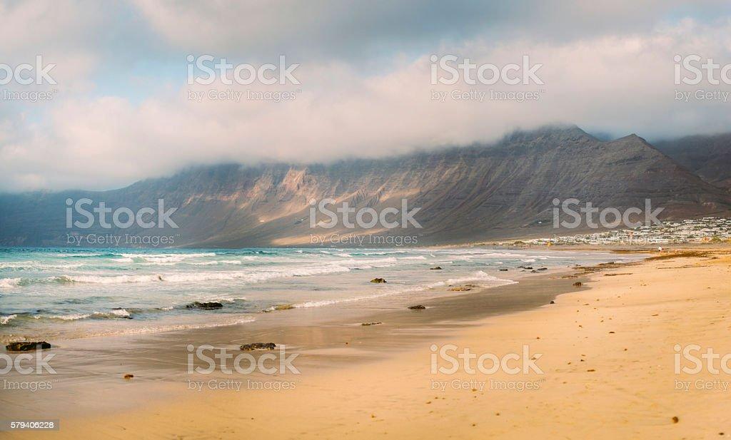Caleta de Famara - Beach stock photo