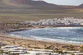 Caleta de Famara, in Lanzarite, Canary Islands