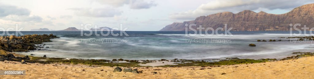 caleta de famara lanzarote canary islands islas canarias stock photo