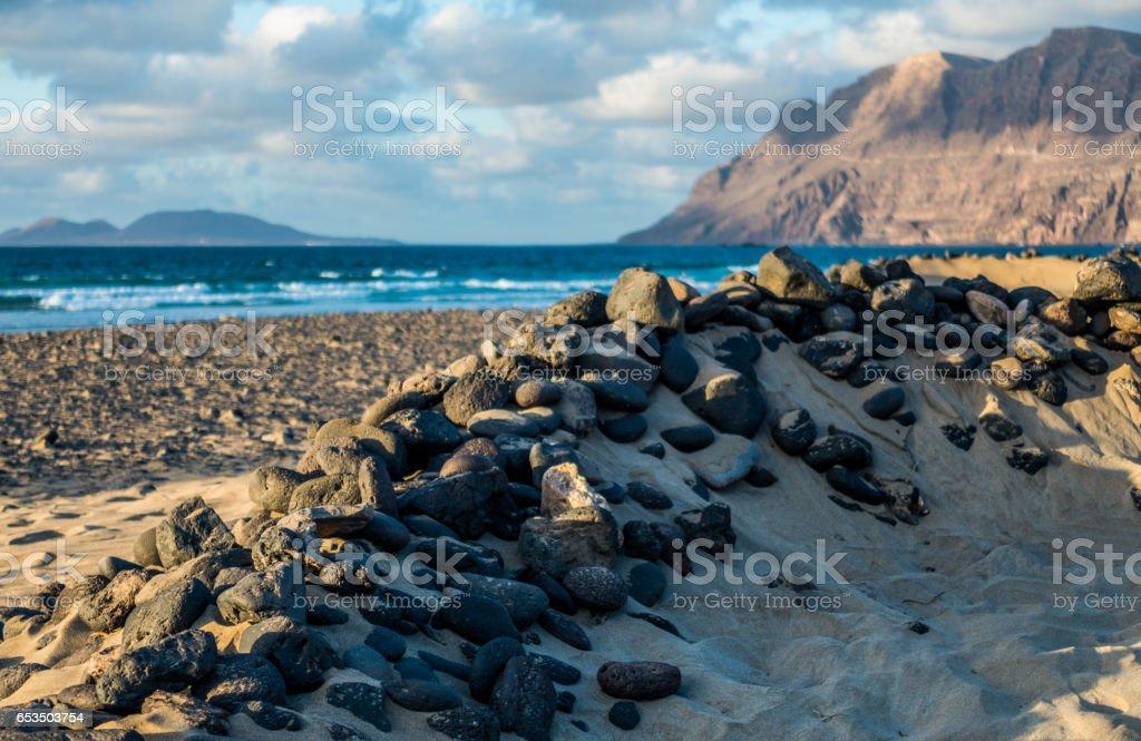 caleta de famara lanzarote canary islands islas canarias stock photo