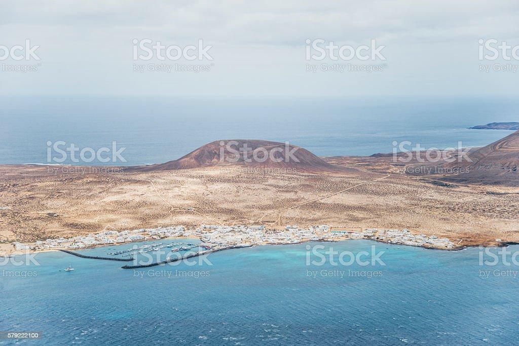 Caleta de Sebo, Graciosa Island stock photo