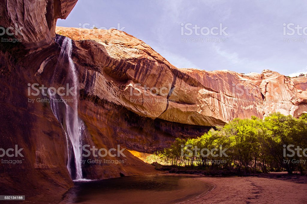 Calf Creek falls, Utah stock photo