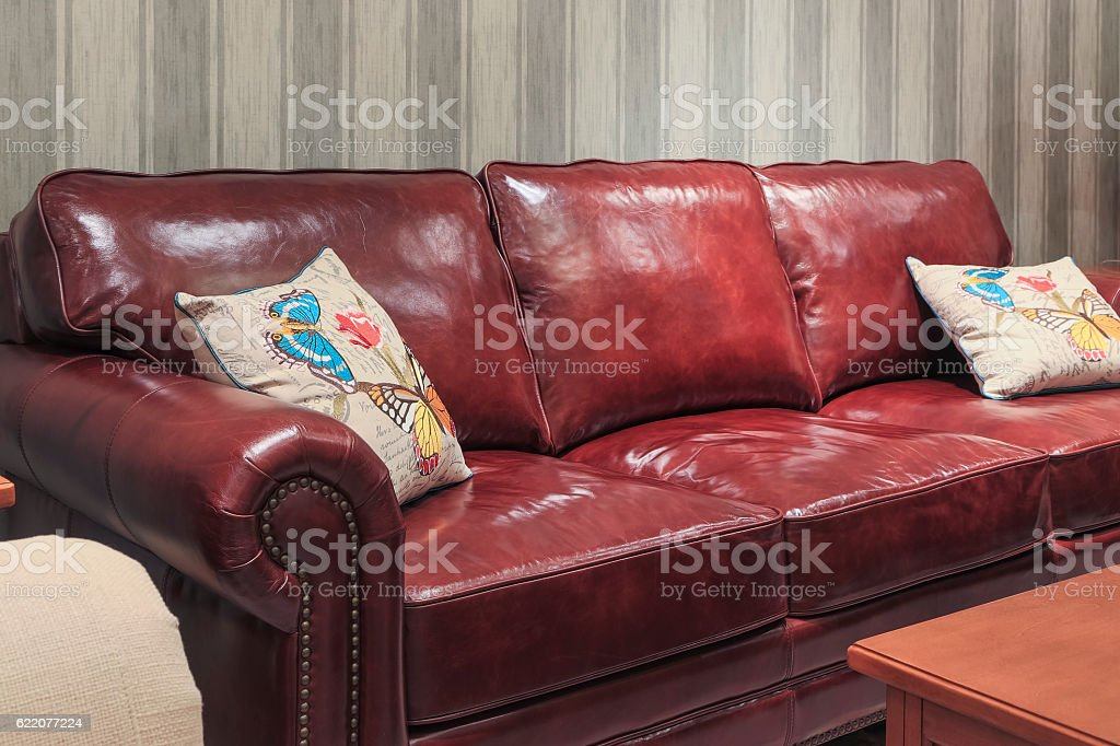 Calfskin sofa stock photo