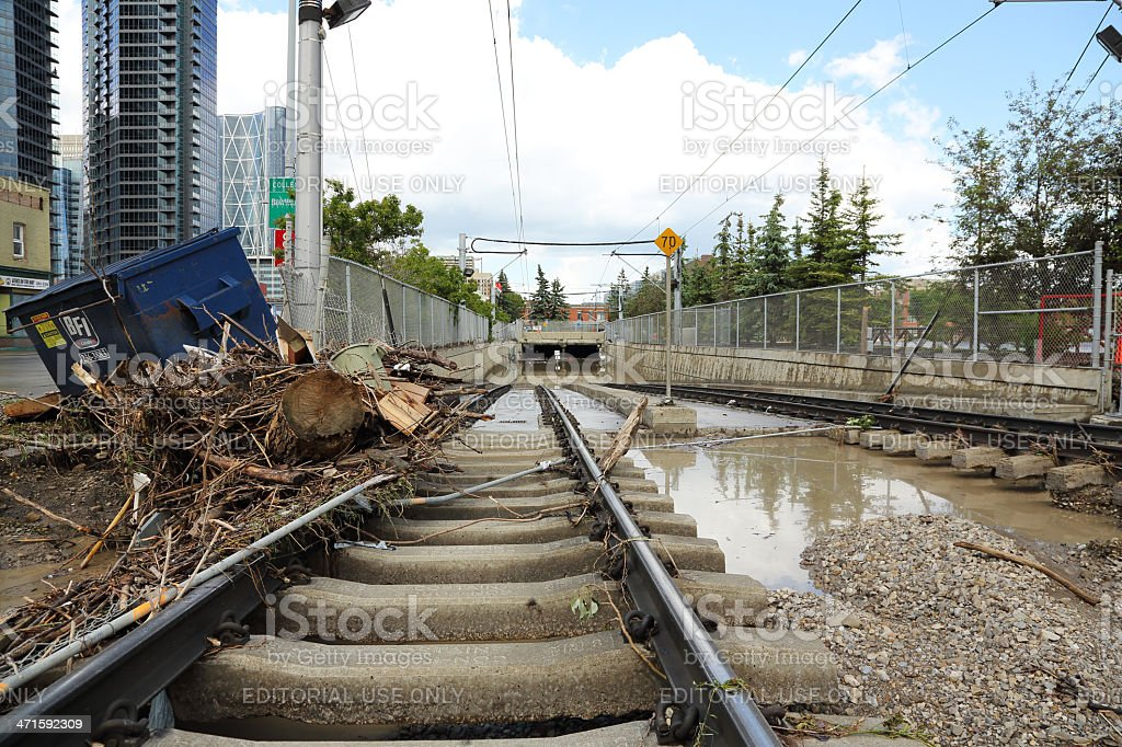 Calgary, Alberta Flooding royalty-free stock photo