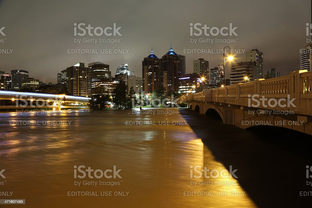 Calgary, Alberta Flooding royalty-free stock photo