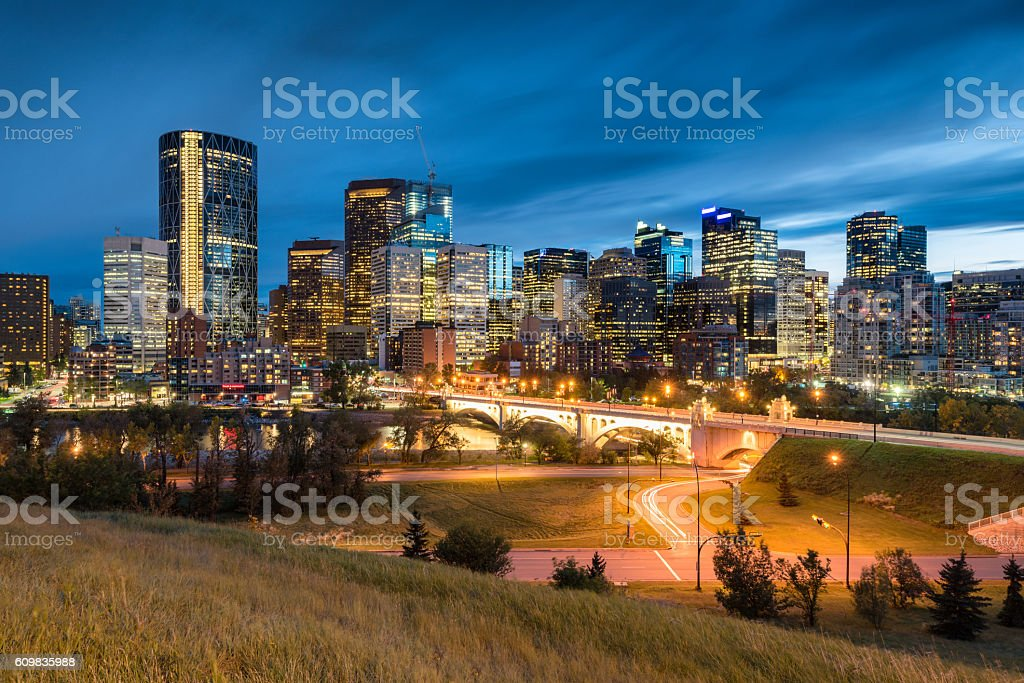 Calgary Cityscape, Alberta, Canada stock photo
