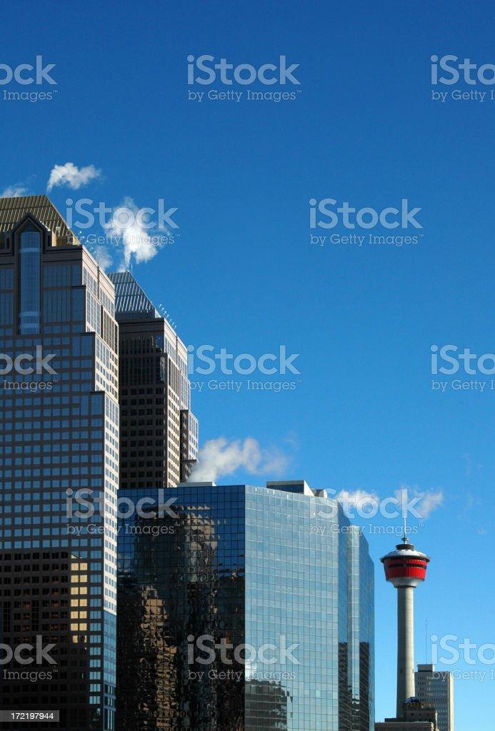 Calgary Downtown royalty-free stock photo